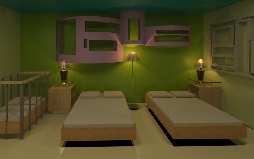 Interiores 3 habitaci n doble y suite combinaci n de colores - Combinacion de colores para interior ...