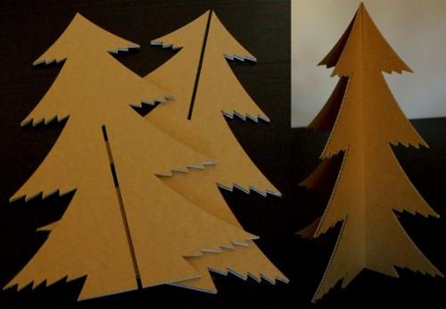 rbol de navidad de cartn reciclado Aprender a Hacer