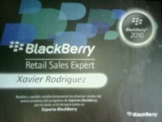 BlackBerry Experto Certificado