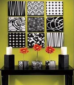Decorando con cuadros la pared decoraci n de interiores for Cuadros de interiores