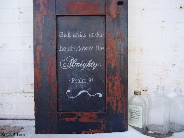 Repurposed Cabinet Door Chalkboard via Knick of Time
