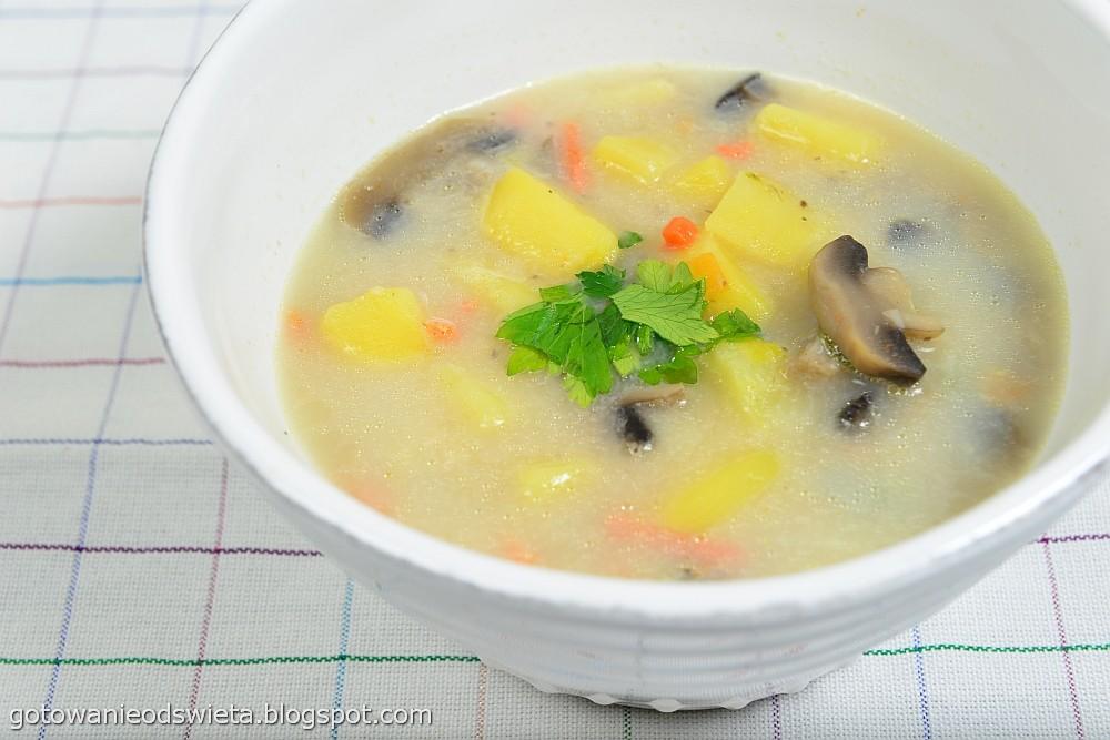 zupa pieczarkowa gotowa