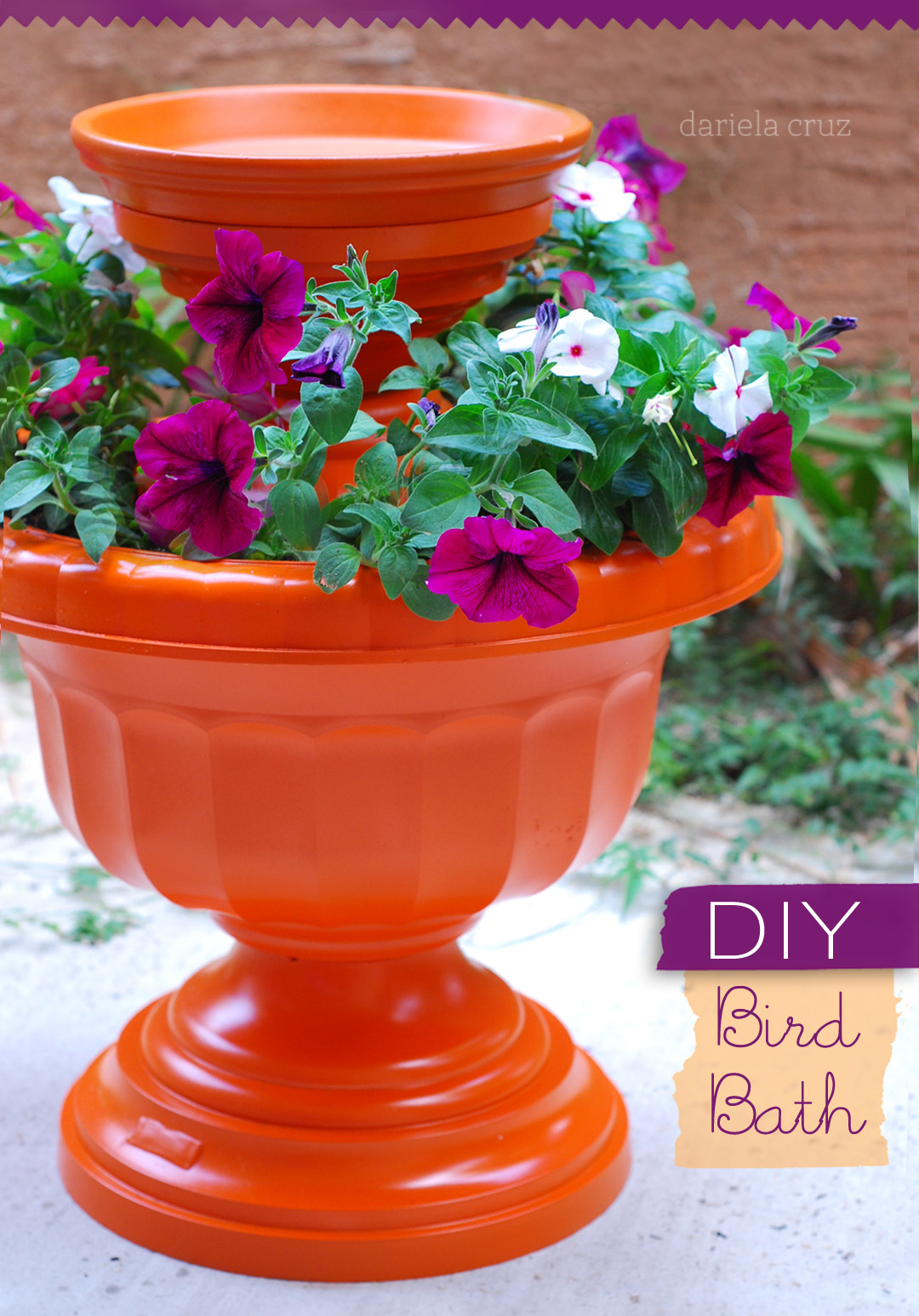 mami talks diy bird bath