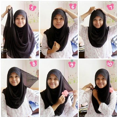 tutorial hijab sekolah