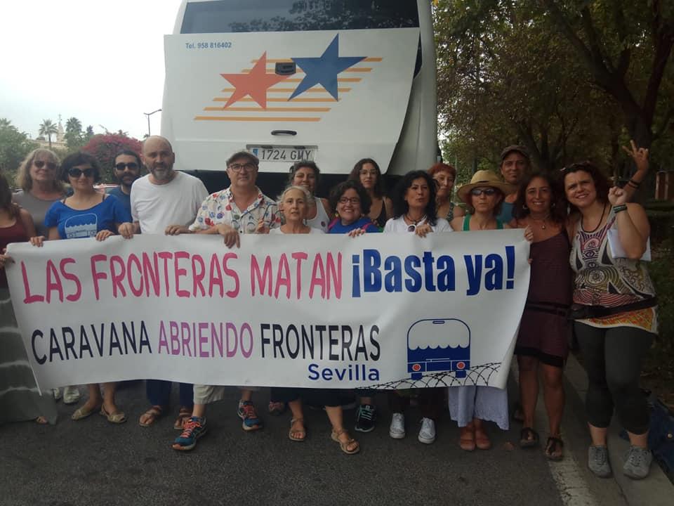 Caravana Abriendo Fronteras 2019 Sevilla camino de Granada