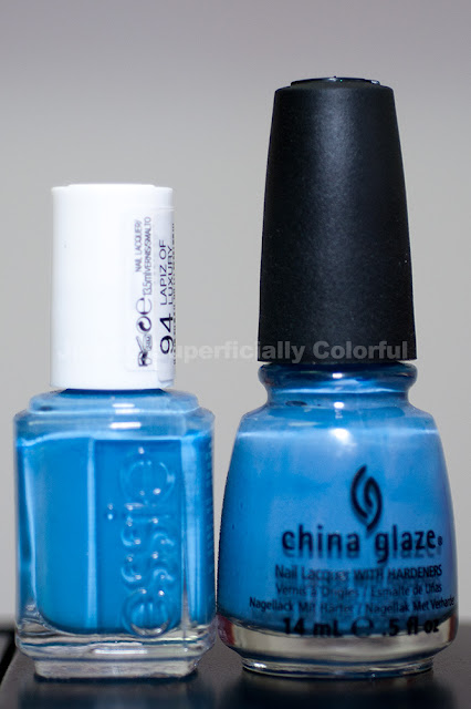 Essie - Lapiz Of Luxury vs. China Glaze Secret Peri-wink-le