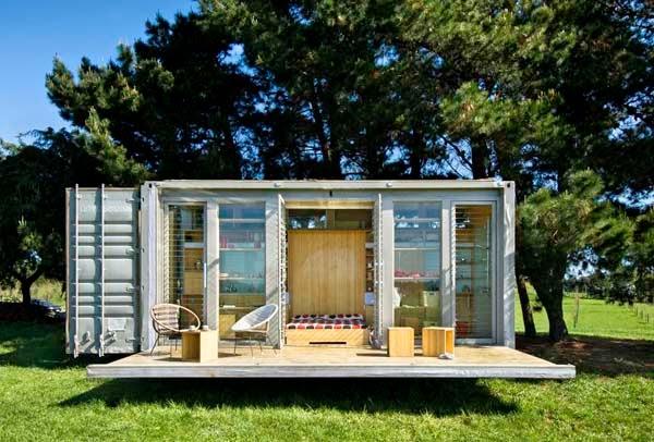 Binnenkant een mooie containerwoning is niet lelijk - Huis in containers ...