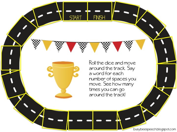 Soft image for printable race track
