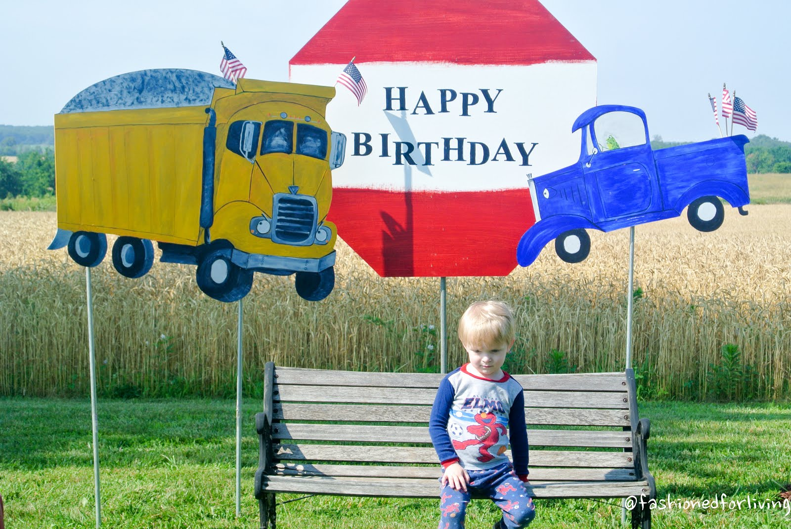 Fashioned For Living Little Blue Truck Birthday