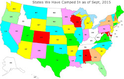 States We've Camped In To Date