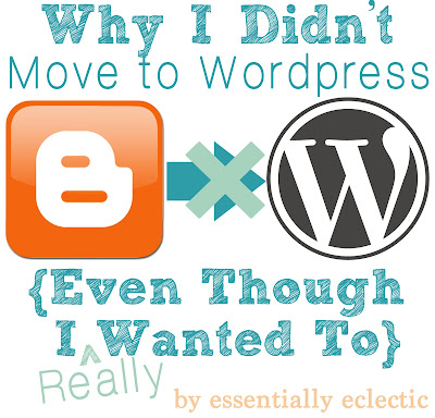 Why I Didn't Move to WordPress {Even Though I Wanted To}