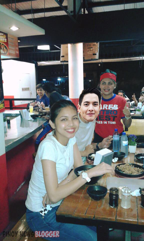 Yaya Dub and Alden Eating Pares