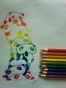 Rainbow Panda's