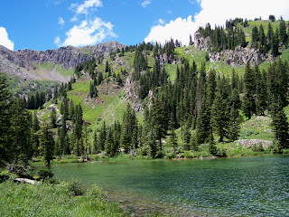 Geneva Lake near Marble, Colorado on the west side of Snowmass Mountain