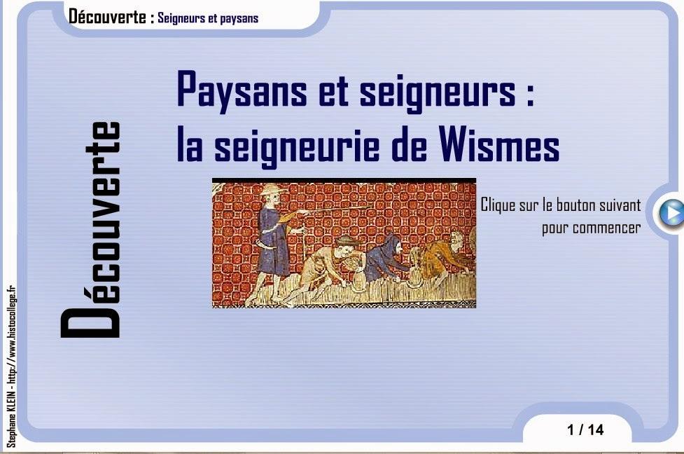 http://www.histocollege.fr/flash/cinquieme/paysans_seigneurs.swf