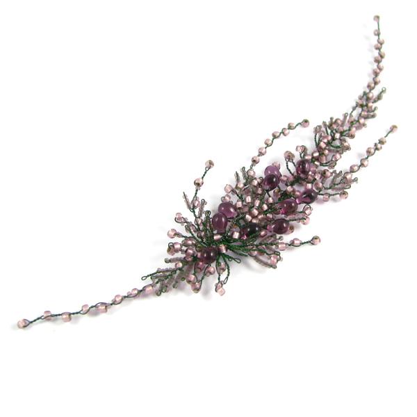 Kwiaty do włosów na ślub - wrzosy