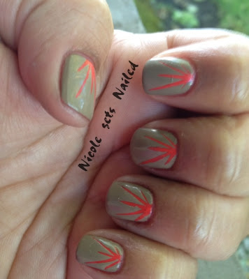 Orange Sunburst Nail Art