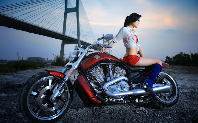 Sexy Girls And Bikes Wallpapers HD