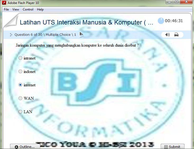 Soal Latihan Ujian Uts Uas Flash Bina Sarana Informatika Backup Duplicator