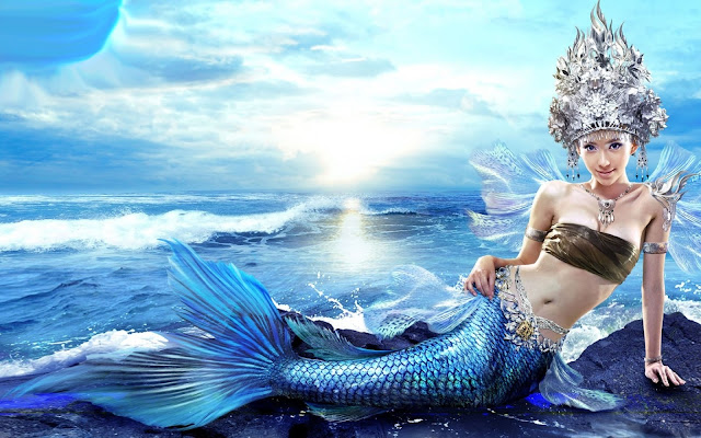 Cute Mermaids Wallpaper