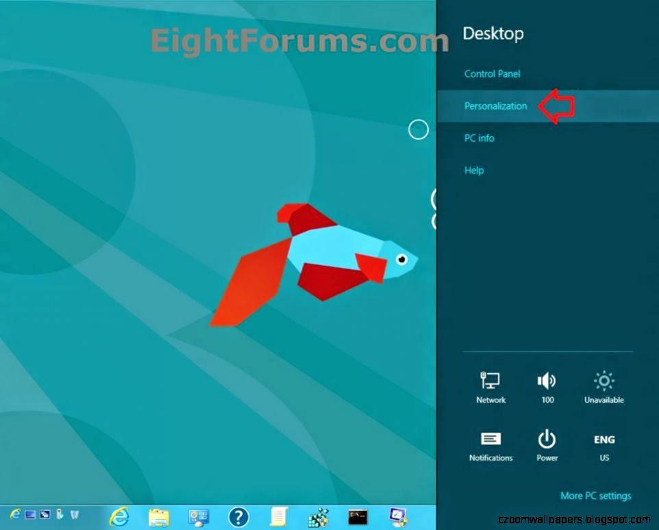 Desktop Background   Change in Windows 8