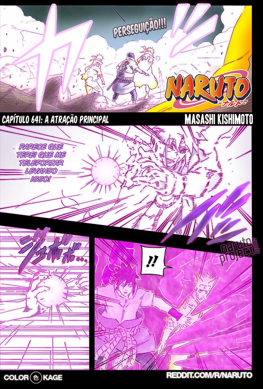Naruto 641 Mangá Colorido em português leitura online