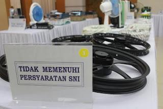 Produk yang tidak memenuhi persyaratan SNI