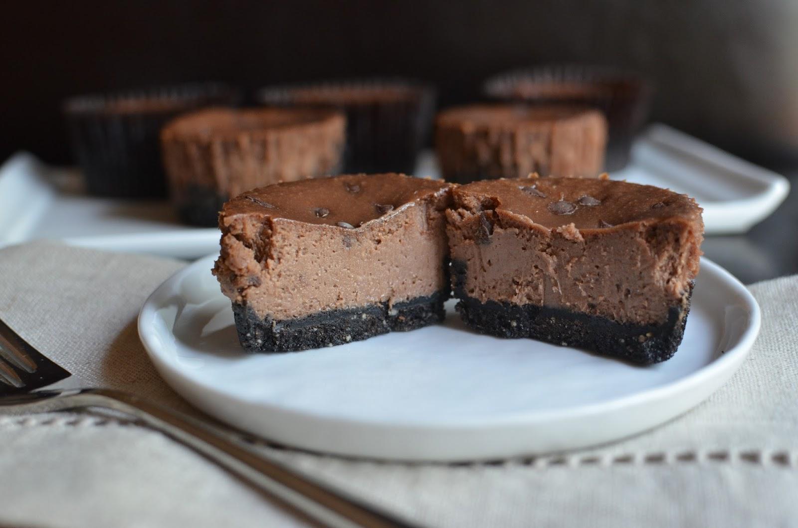 Playing with Flour: Mini chocolate-hazelnut cheesecakes
