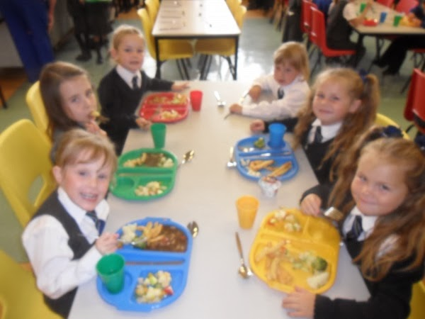 School lunch for pupils at Longhaugh Primary School