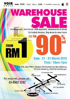 Voir Warehouse Sale 2013