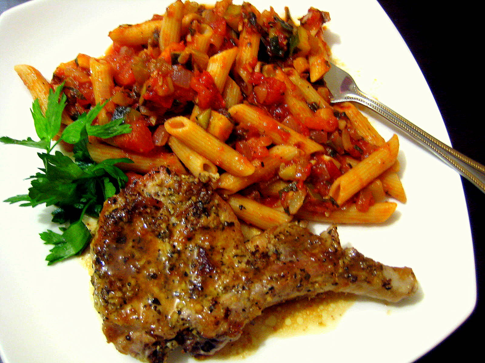 Food Tastes Yummy: GREEK-STYLE PORK CHOPS