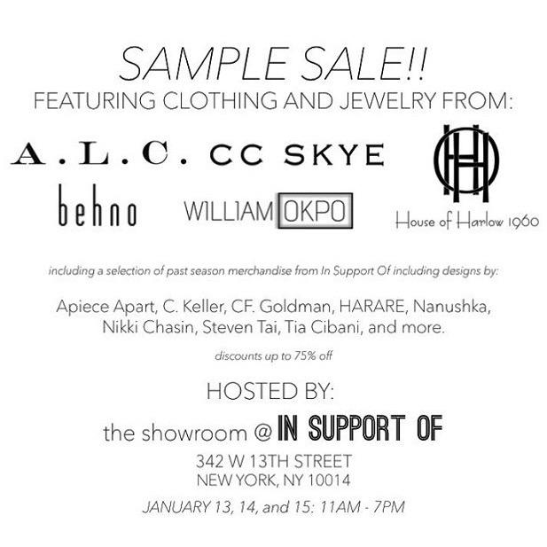 This Week in Sample Sales... | Le Hoarder