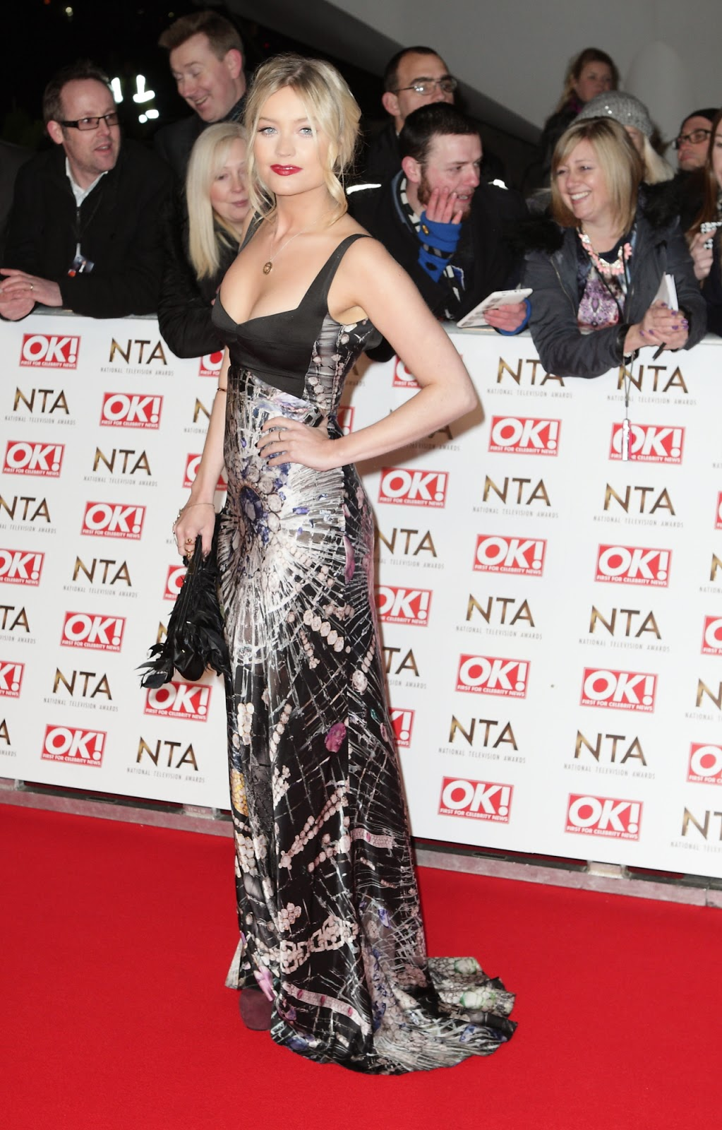 TV presenter, model: Laura Whitmore - National Television Awards in London