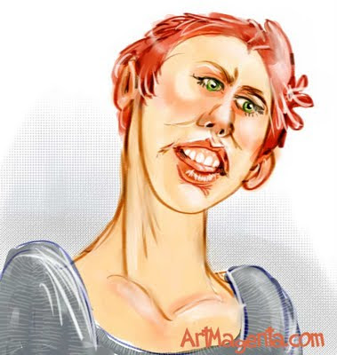 Caricature from ArtMagenta.com