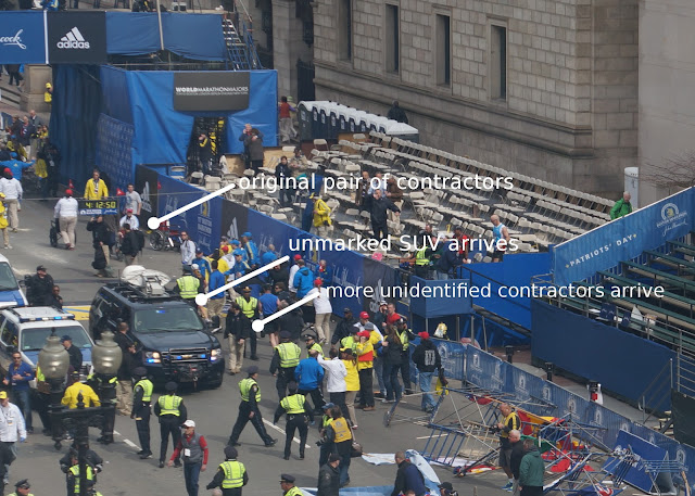 """Contractors"" at Boston Marathon Stood Near Bomb, Left Before Detonation SUV Arrives"
