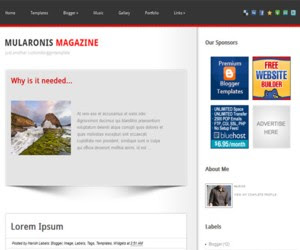 Mularonis Magazine Blogger Template