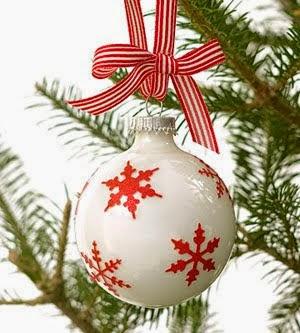 esfera de navidad azul