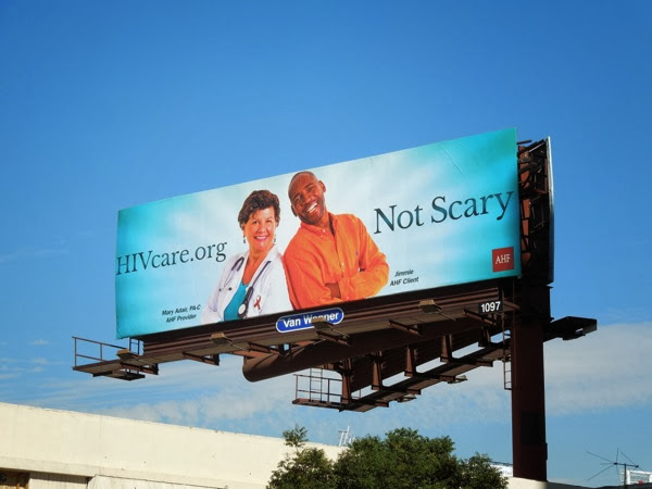 HIV Care org Not scary billboard