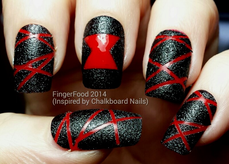 The Ncc Presents Inspired By A Tutorial Chalkboard Nails Black Widow