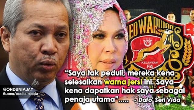 Dato' Sri Vida Bantah Kafa Kekalkan Jersi Warna Merah