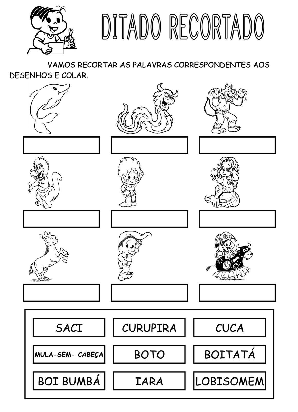 32 ATIVIDADES FOLCLORE TURMA DA M  NICA PARA COLORIR PINTAR IMPRIMIR