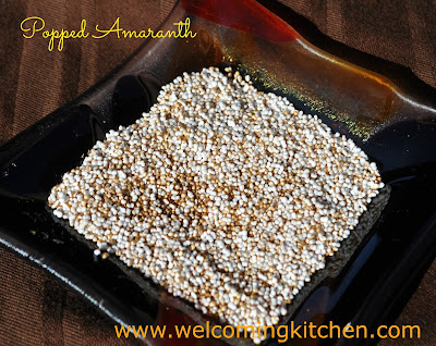 Vegan, Gluten-free Popped Amaranth