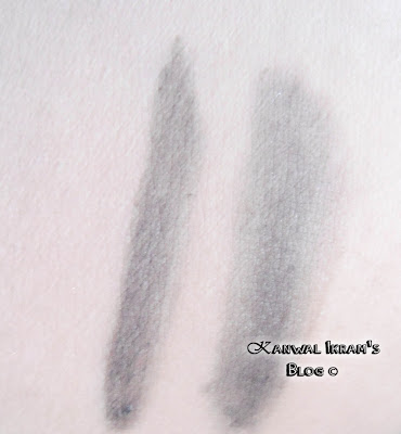 Swatches of Essence Eyebrow Gel In Brown 01