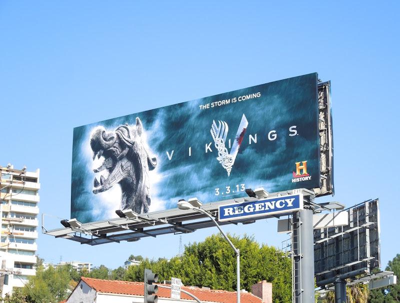 Vikings season 1 teaser billboard