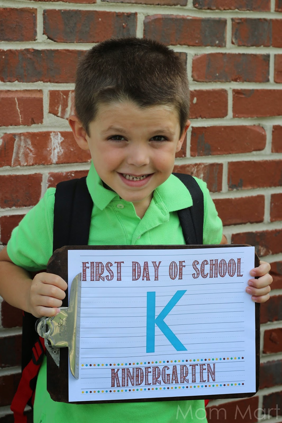 Back to School Kindergarten Photo Card Printable