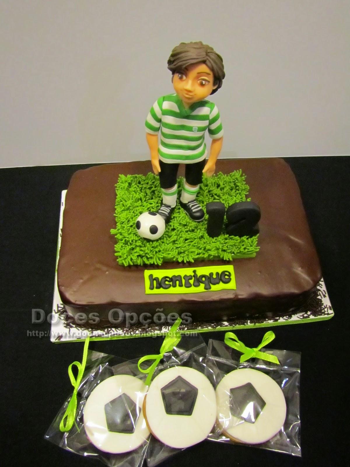 bolo e bolachas bola futebol