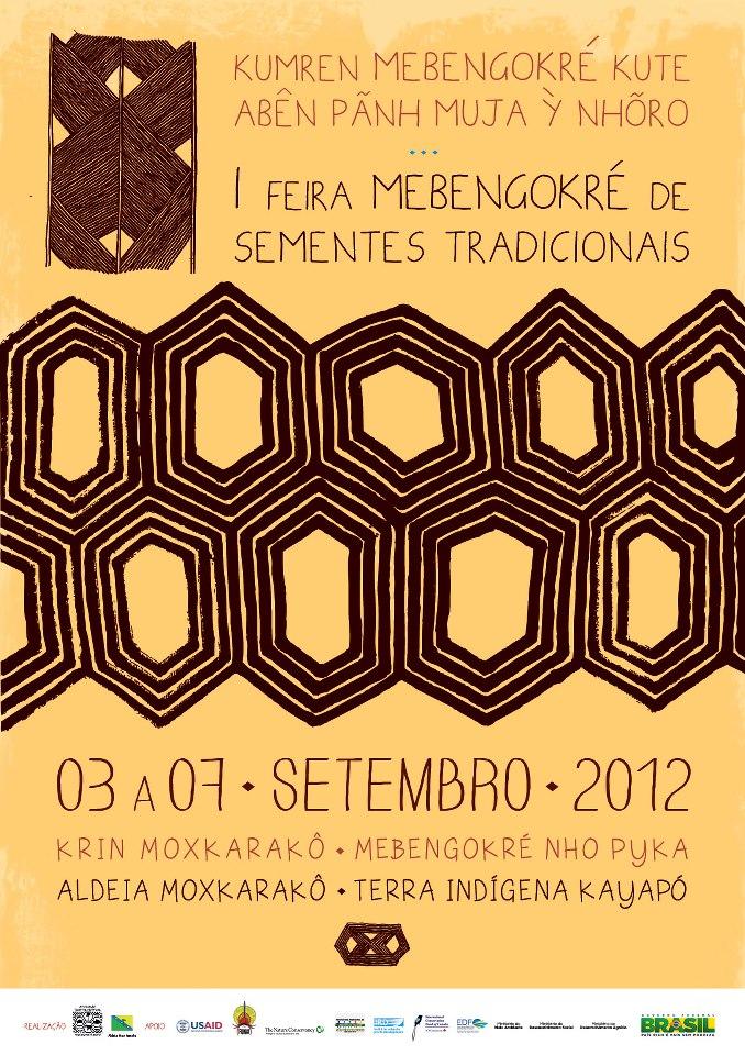 Cartaz da I Feira Mebengokré (Kayapó) de Sementes Tradicionais