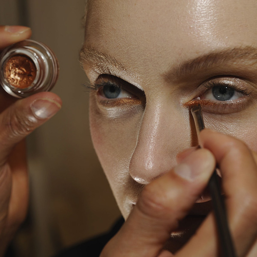 MAC Cosmetics Backstage at Issey Miyake AW14 Paris Fashion Week