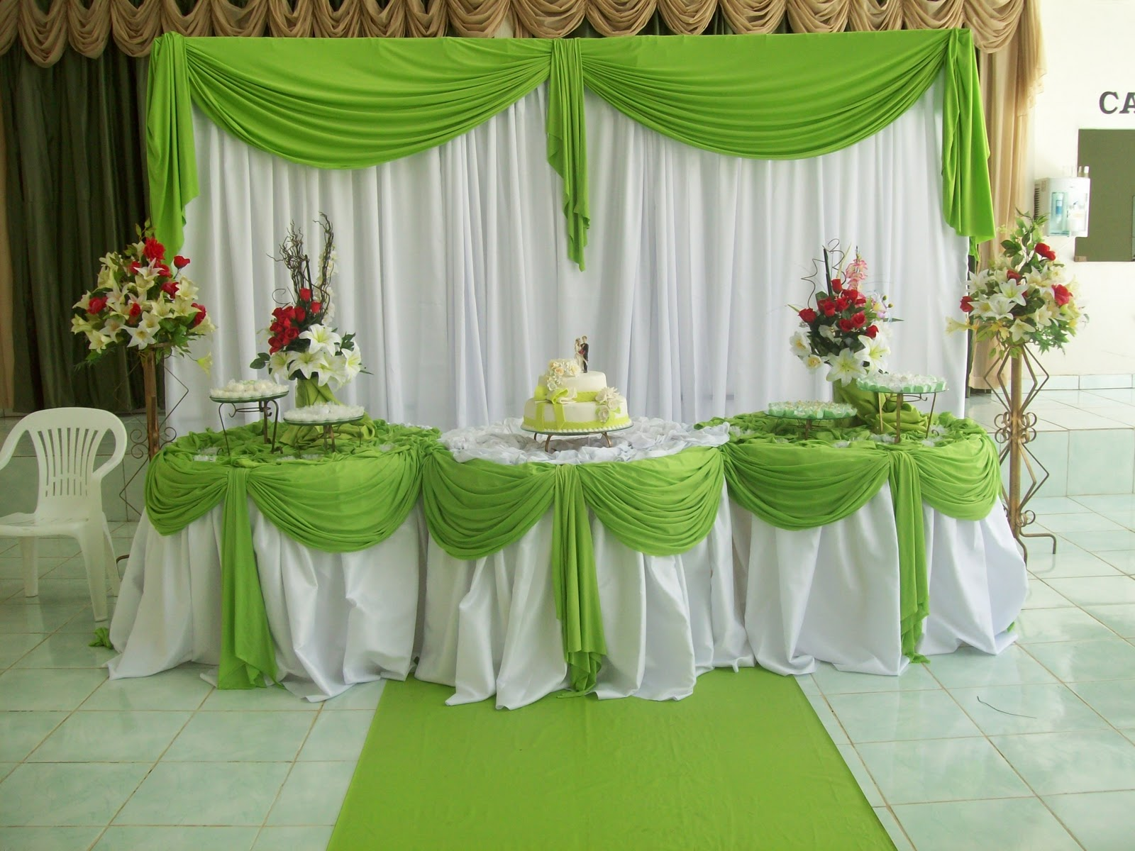 Decoracao De Quarto Verde E Branco ~ Aline Decora??es Casamento  Verde Lim?o