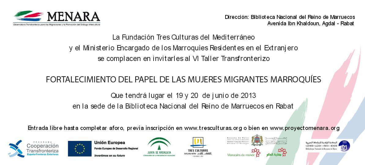 'Fortalecimiento del papel de las mujeres migrantes marroquíes'